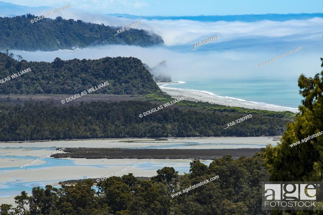 Stock Photo: Okarito Lagoon in Okarito, South Island, New Zealand.