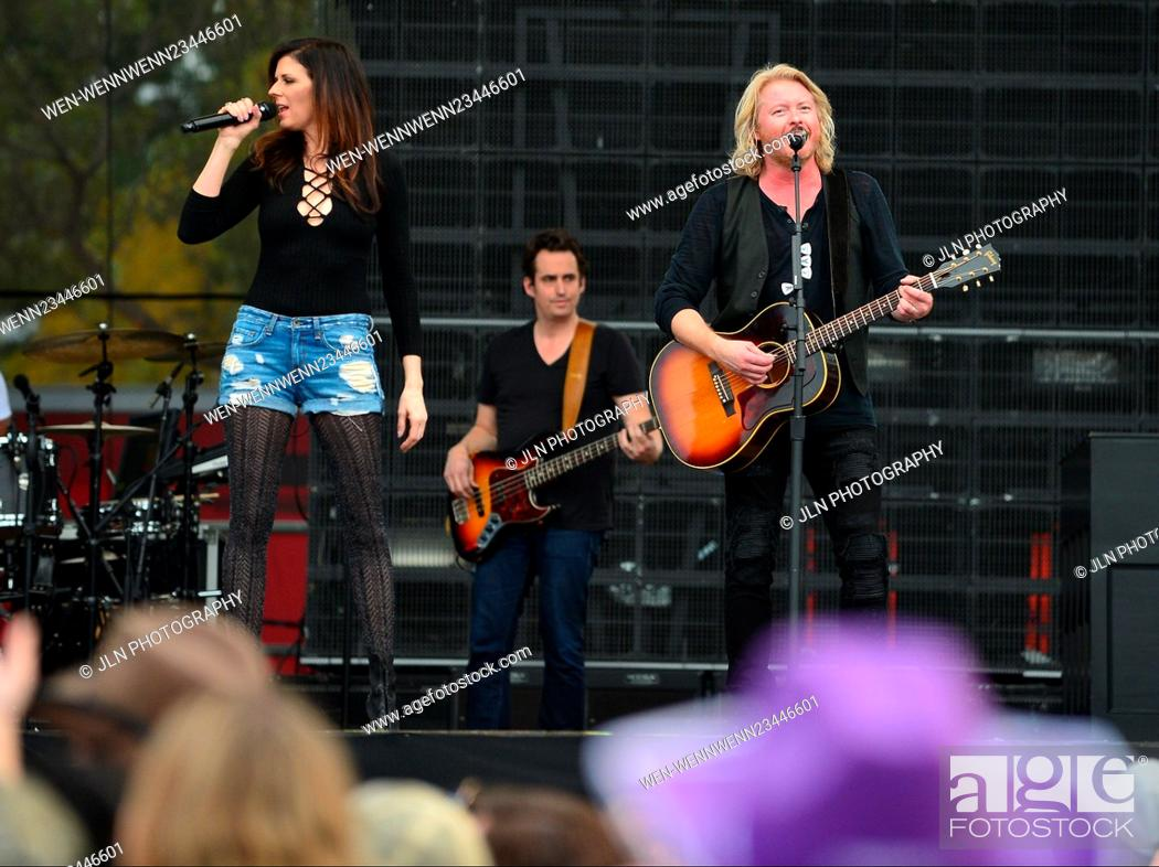 Stock Photo: 31st annual Kiss 99.9 Chilli Cookoff at CB Smith Park Featuring: Karen Fairchil, Phillip Sweet of Little Big Town Where: Pembroke Pines, Florida.