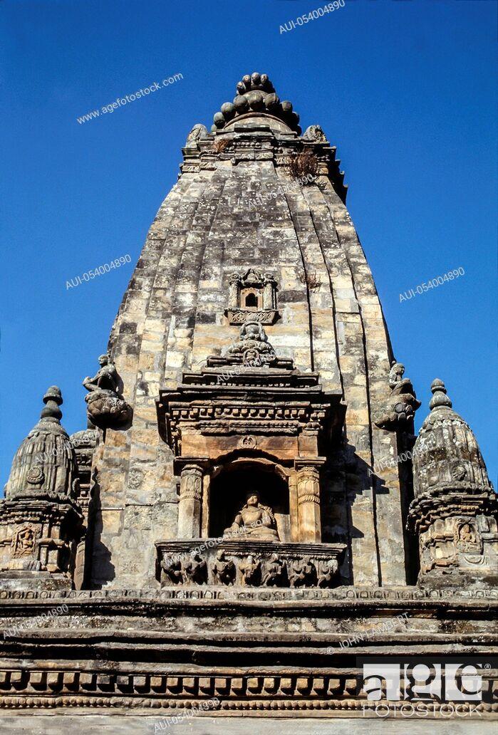Stock Photo: nepal, katmandu, kirtipur temple.