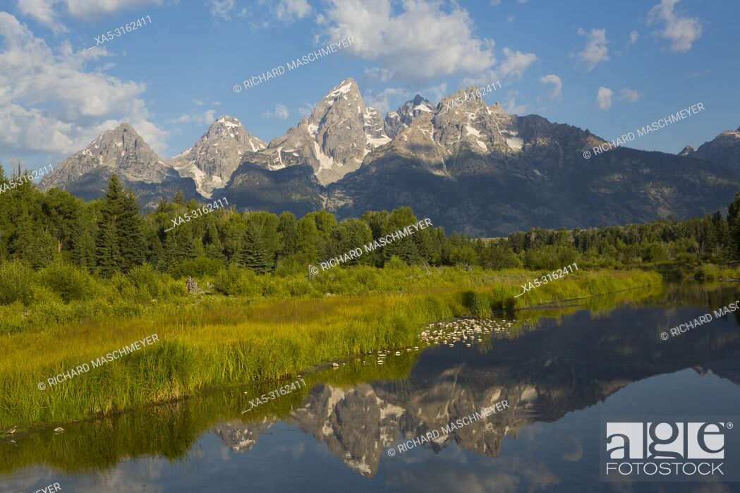 Imagen: Teton Range from Schwabache Landing, Grand Teton National Park, Wyoming, USA.