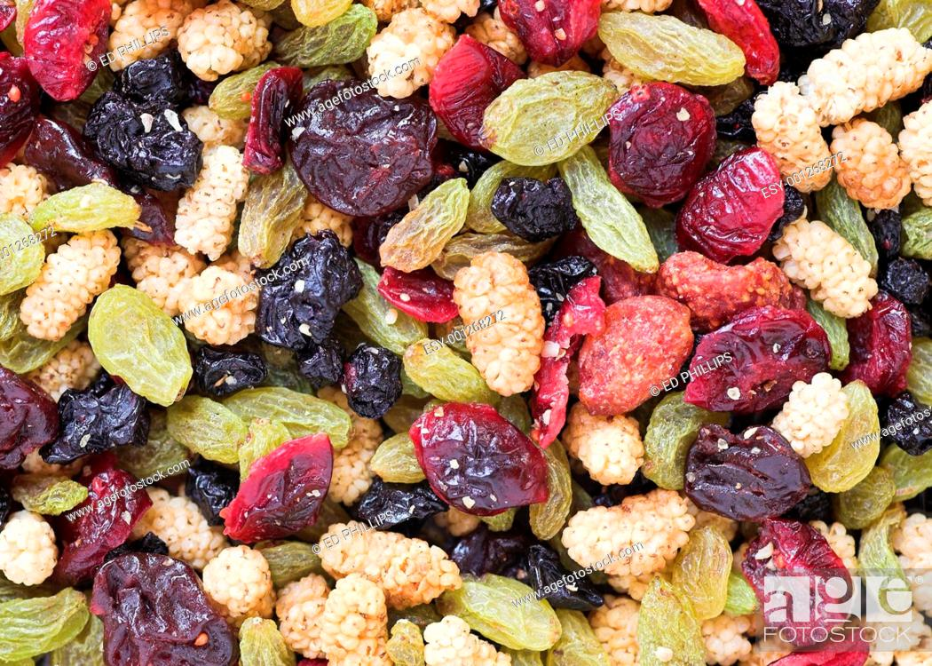 Stock Photo: Dried Fruits and Berries.