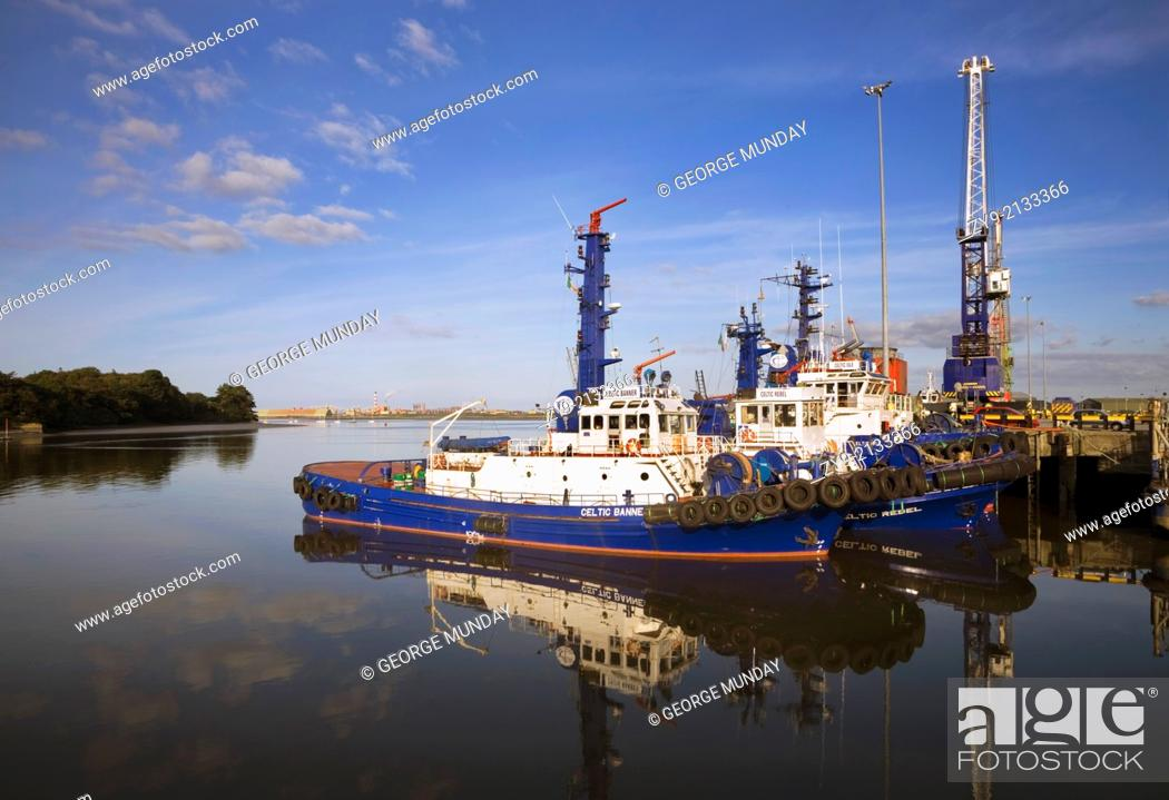 Stock Photo: The Docks at Foynes on the River Shannon, County Limerick, Ireland.