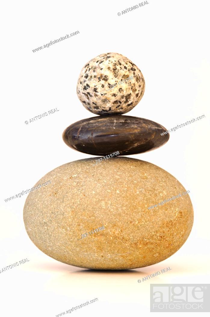 Stock Photo: Stones still life.