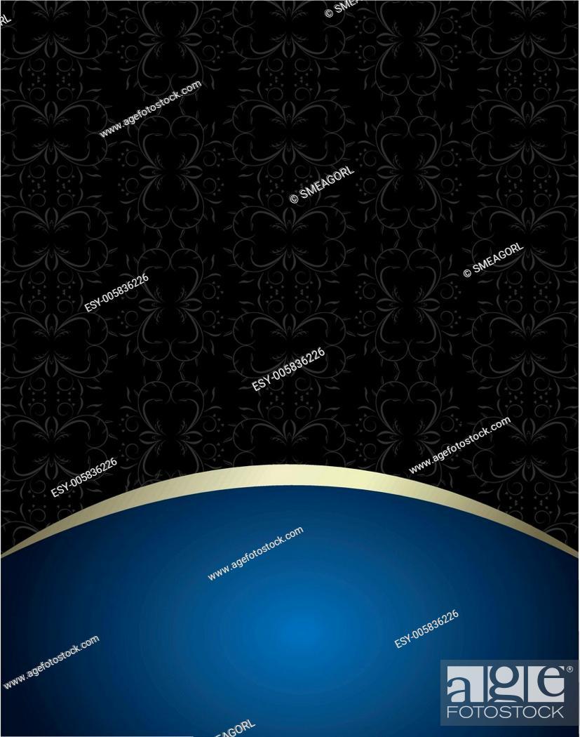 Stock Vector: Luxury card or invitation.