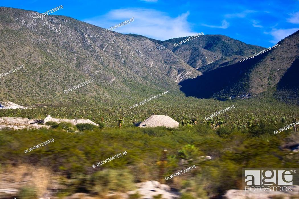 Stock Photo: Panoramic view of mountains, San Luis Potosi, Mexico.