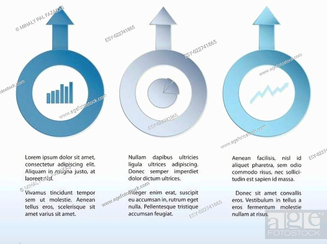 Stock Vector: Infographic design with arrows and diagrams.