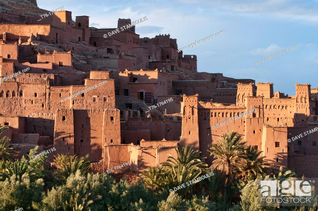 Stock Photo: the ancient kasbah of Ait Benhaddou UNESCO World Heritage Site, Morocco.