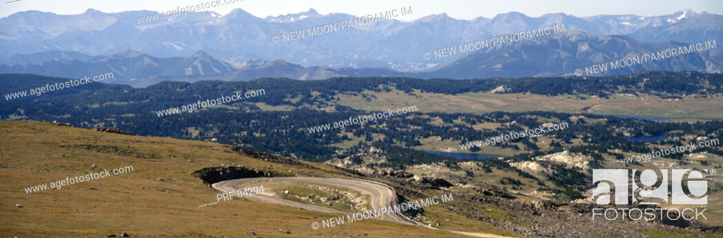 Stock Photo: Road Shoshone National Forest WY.