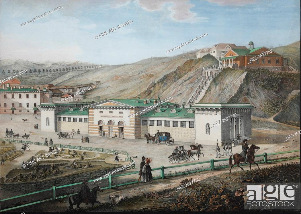 Stock Photo: The Caucasian mineral springs, Mid of the 19th century. Artist: Beggrov, Karl Petrovich (1799-1875).