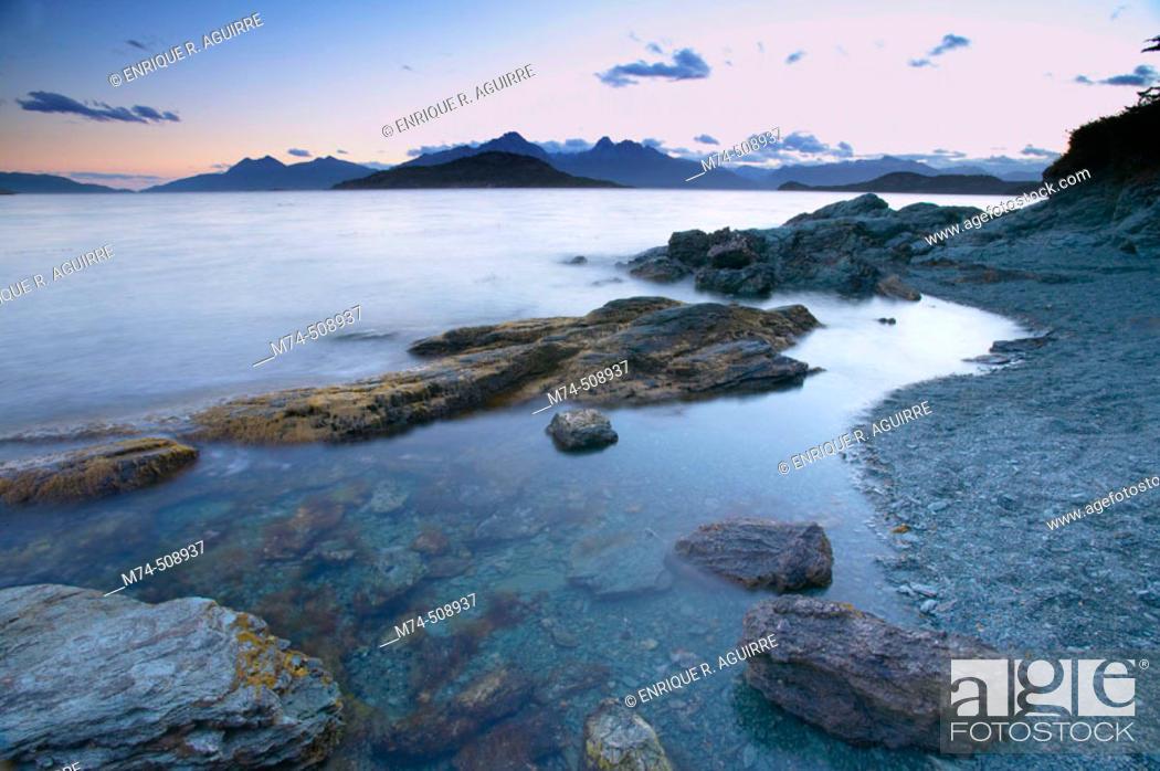 Stock Photo: Beagle Channel. Tierra del Fuego, Patagonia, Argentina.