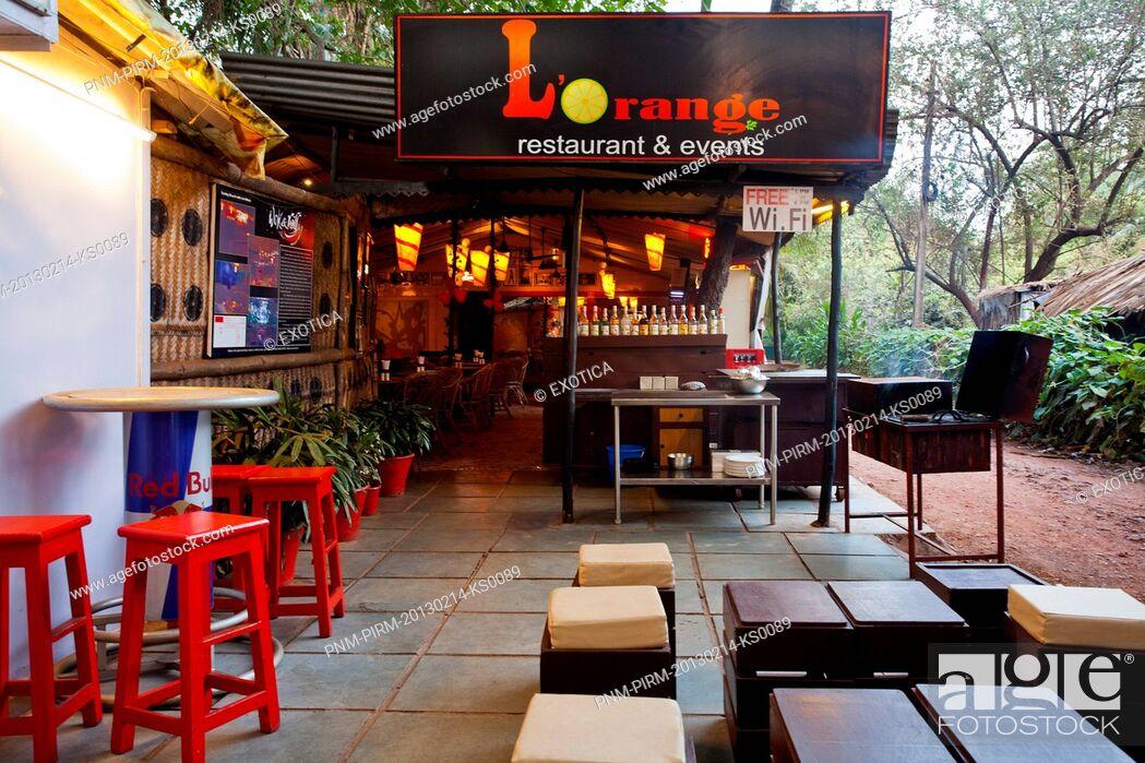 Stock Photo: L'Orange Restaurant & Events, Candolim, North Goa, Goa, India.