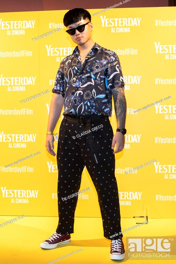 Imagen: Mike Lennon during the photocall of film ' Yesterday ' in Milan, ITALY-20-06-2019.