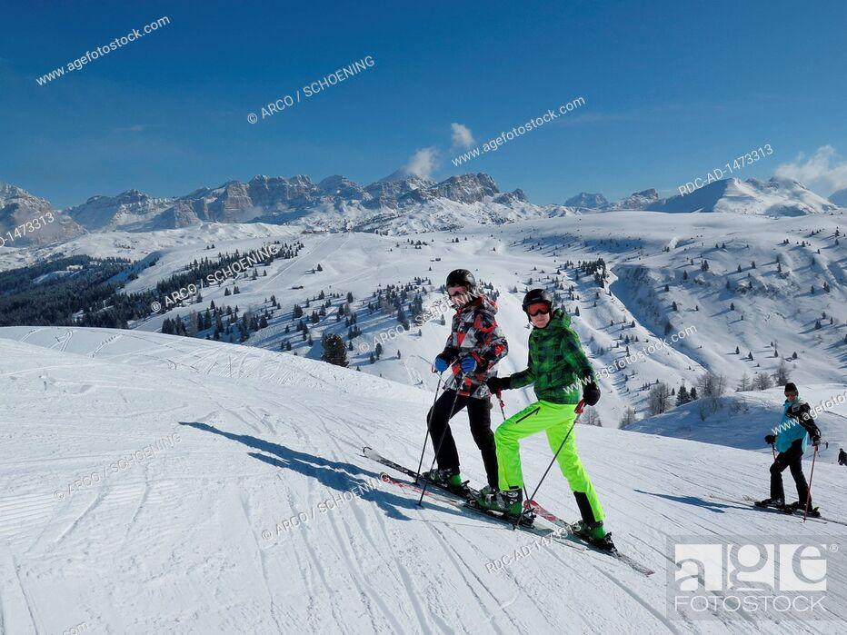 Stock Photo: Pralongia, Piz Lavarela, Gader valley, Dolomites, Italy.