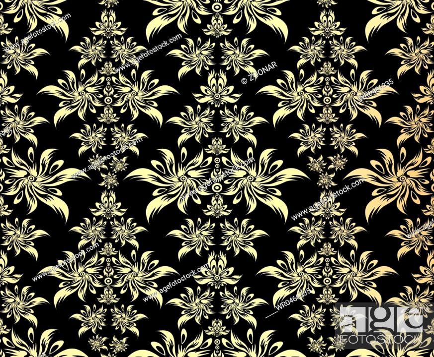 Stock Photo: Golden decorative ornament.