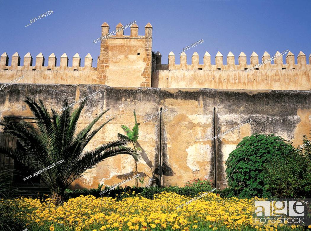 Stock Photo: Garden in the Kasbah of the Oudayas. Rabat. Morocco.