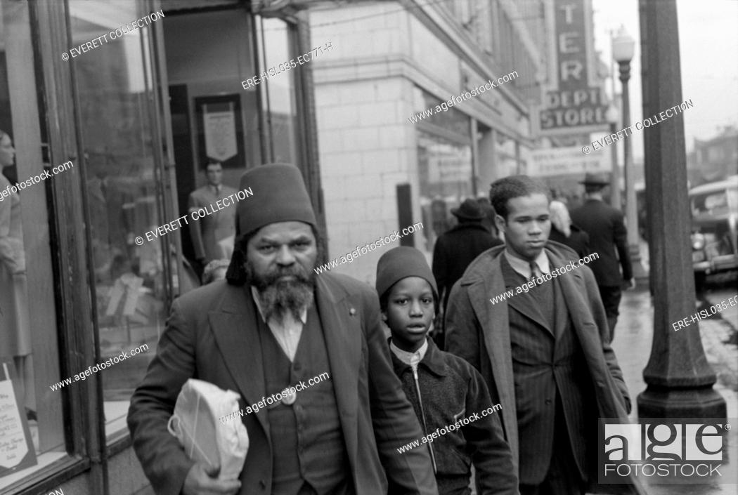 Members of the Moors, an African American religious group of