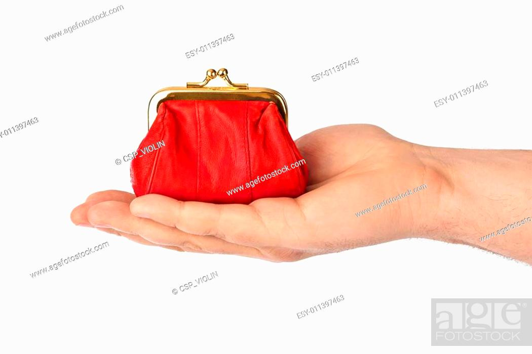Stock Photo: Hand with purse.