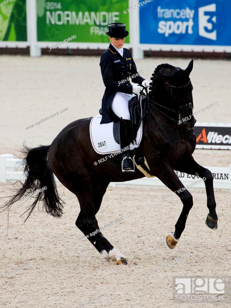 German Dressage Rider Kristina Sprehe On Her Horse Desperados Frh During The Dressage Team Stock Photo Picture And Rights Managed Image Pic Pah 51404690 Agefotostock