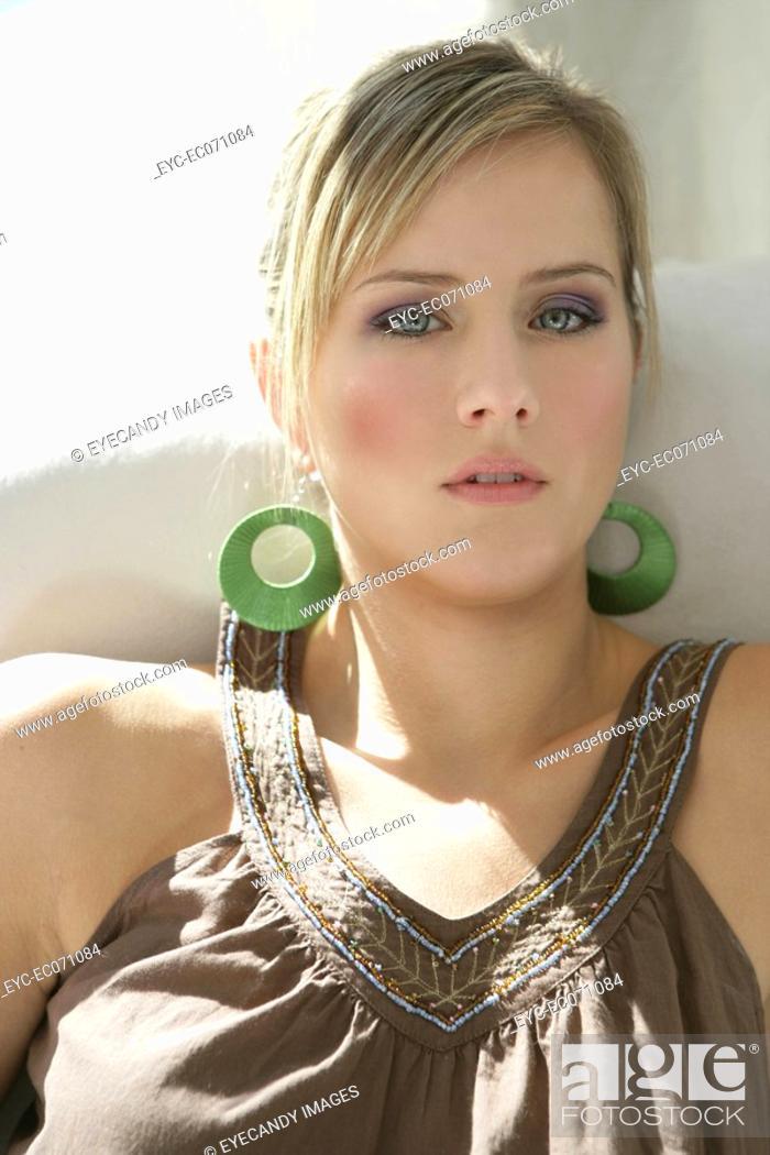Stock Photo: Portrait of young stylish woman.
