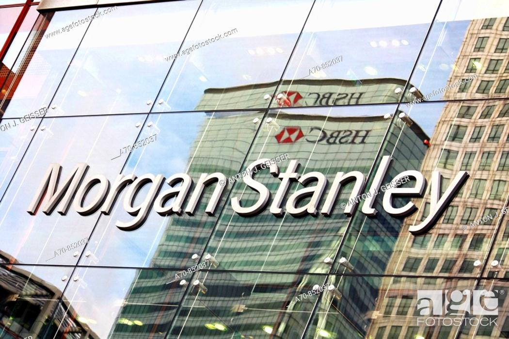 Morgan Stanley Bank  London  England, Stock Photo, Picture And