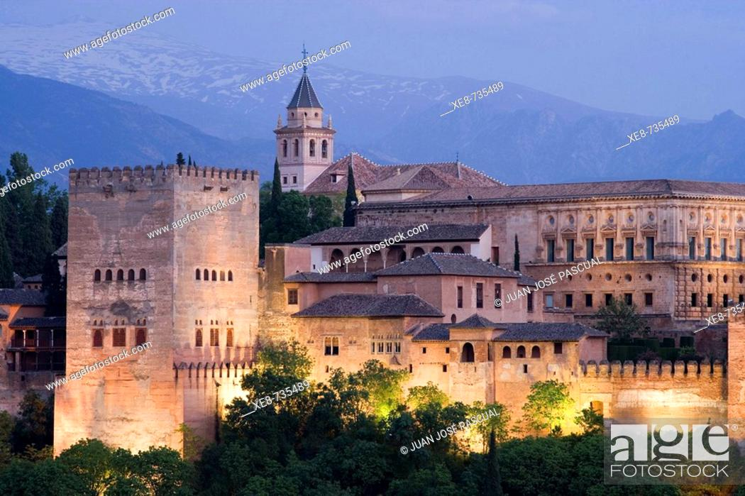 Stock Photo: Alhambra, Granada. Andalucia, Spain.