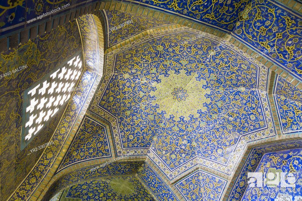 Imagen: Sheikh Lotfollah mosque interior, Isfahan, Iran.