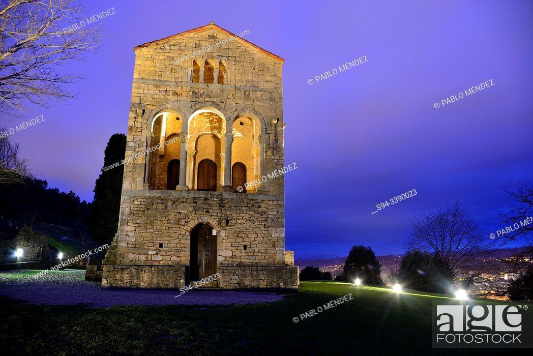 Stock Photo: Pre-Romanesque church of Santa Maria del Naranco, Oviedo, Asturias, Spain.