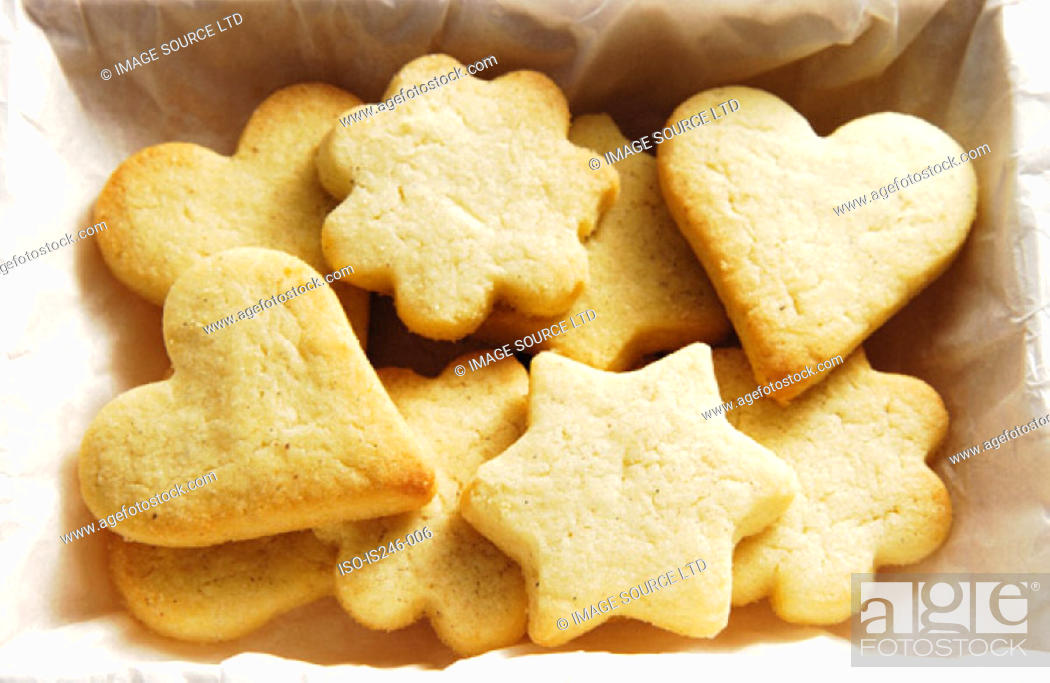Stock Photo: Shortbread biscuits.