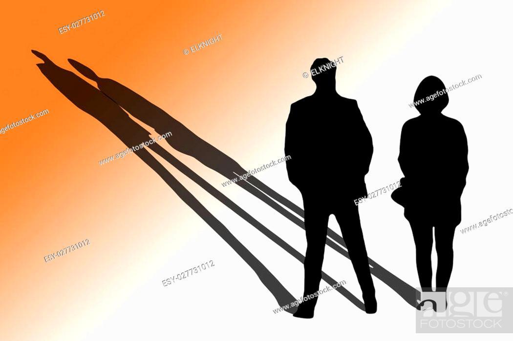 Imagen: Homem e mulher em primeiro encontro.