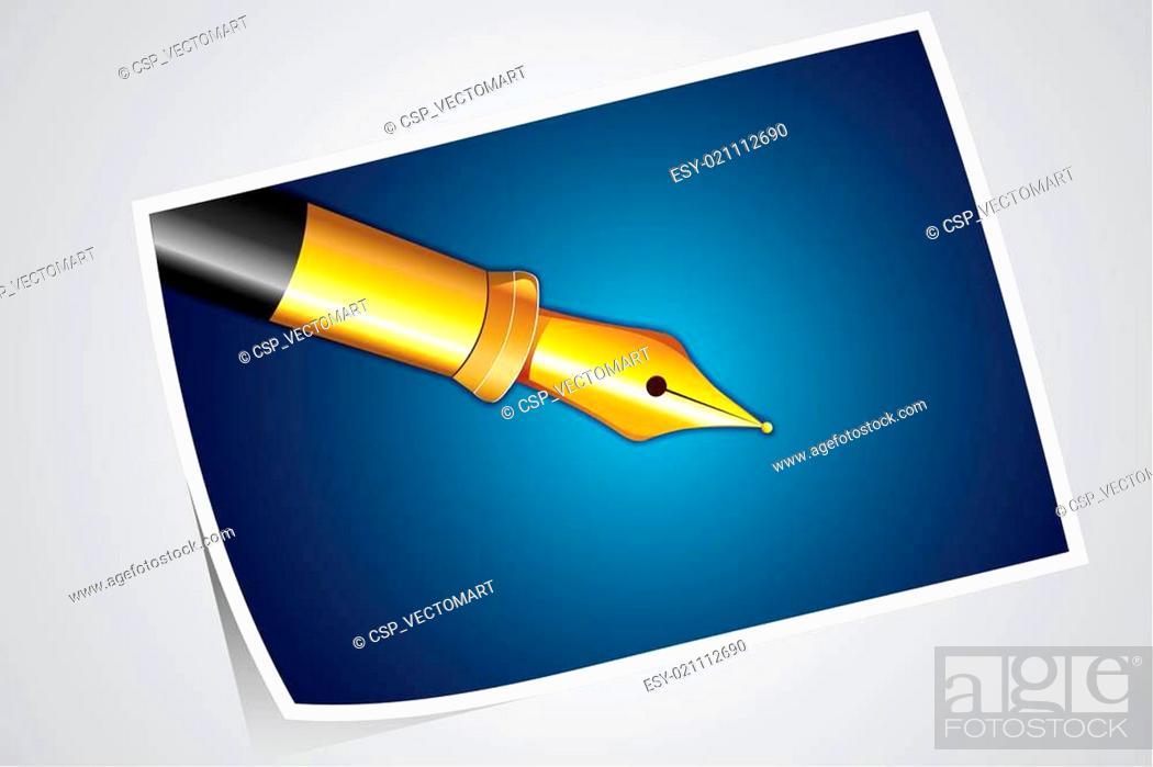 Stock Vector: Photograph of Pen.