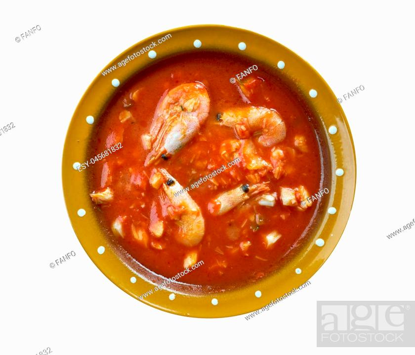 Stock Photo: Bacalao Al Ajo Arriero .spanish snack with codfish and vegetable.