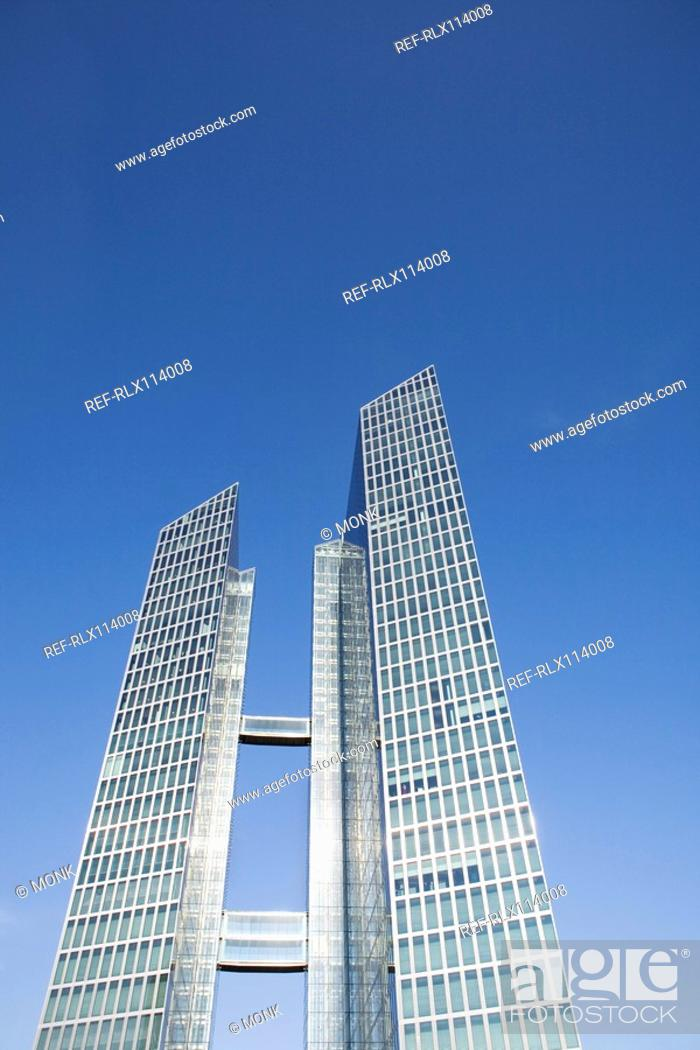 Stock Photo: Modern Office buildings in Munich, Bavaria, Germany.