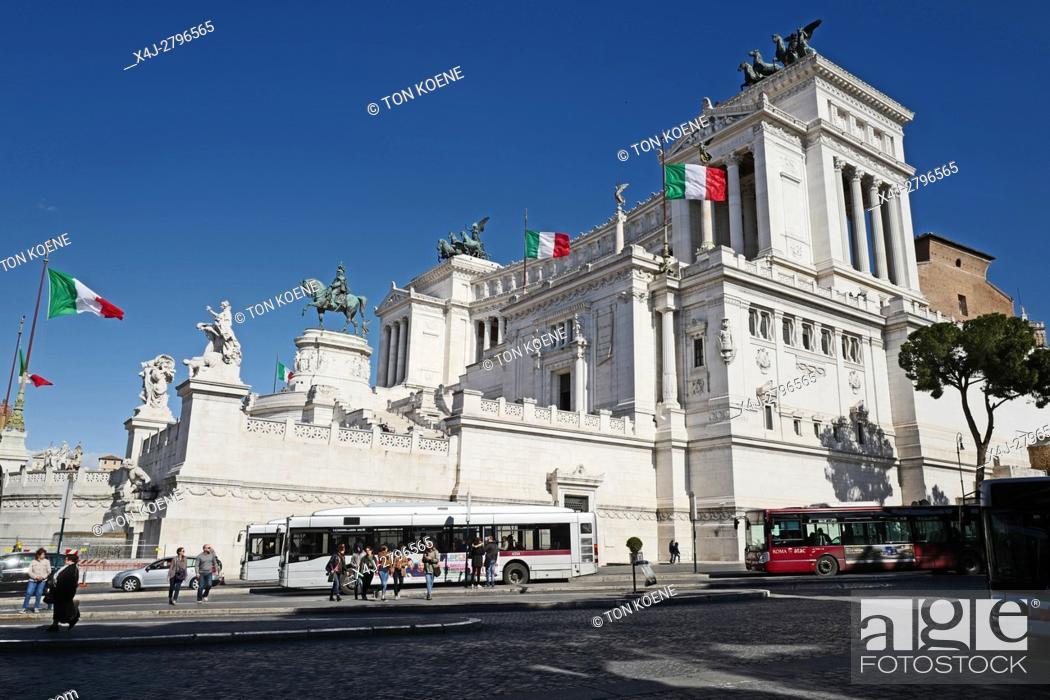 Monument Van Victor Emanuel Ii.Monument Van Victor Emanuel Ii In Rome Stock Photo Picture