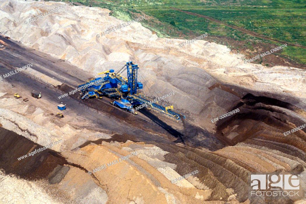 Stock Photo: Coal strip mining. Czech Republic.