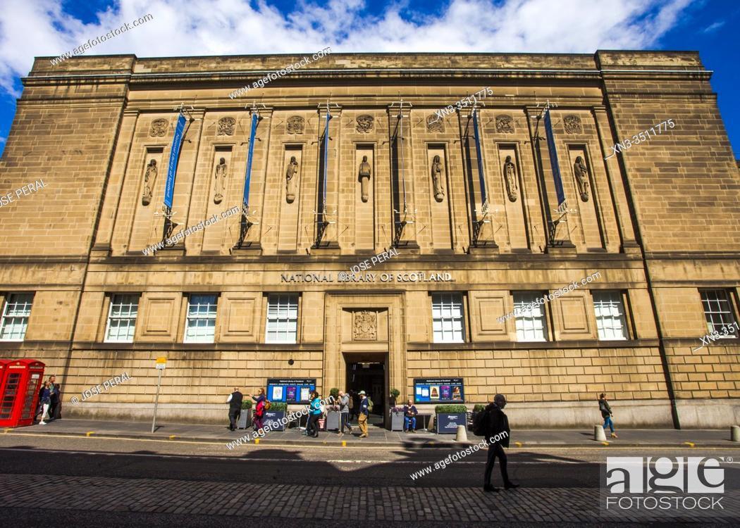 Imagen: National Library of Scotland, 57 George IV Bridge, Old Town, Edinburgh, Scotland, United Kingdom, Europe.