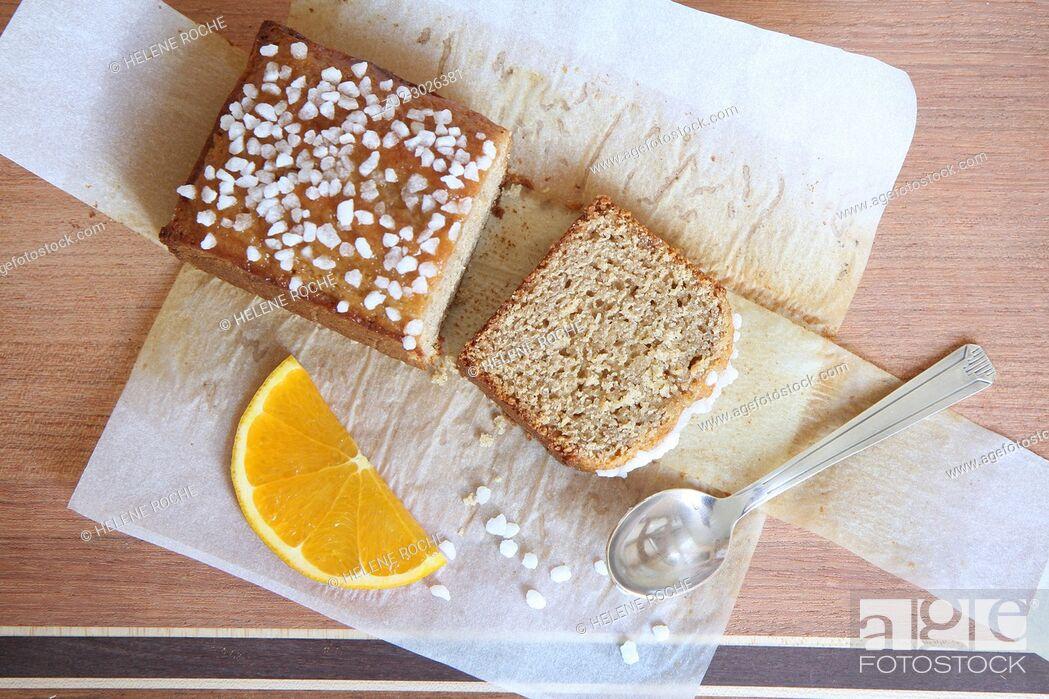 Stock Photo: Honey cake.