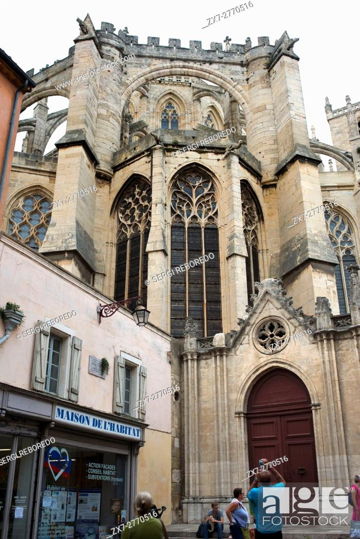 Stock Photo: Narbonne Cathedral. Narbonne Cathedral (Cathédrale Saint Just et Saint Pasteur de Narbonne) is a former cathedral, and national monument of France.
