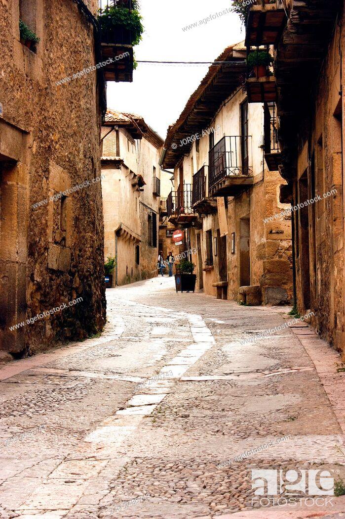 Stock Photo: Pedraza, Segovia Province, Castile-Leon, Spain.