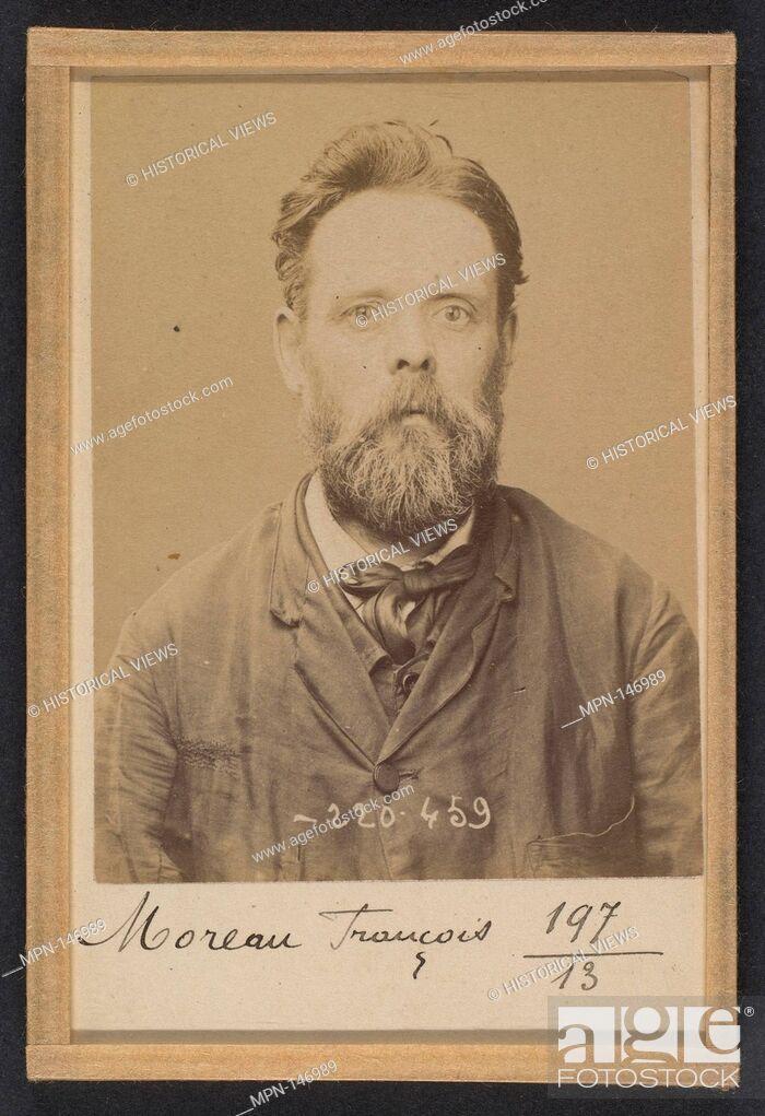 Stock Photo: Moreau. François. 47 ans, né le 19/11/46 à Nevers (Nièvre). Menuisier: Anarchiste. 2/7/94. Artist: Alphonse Bertillon (French.