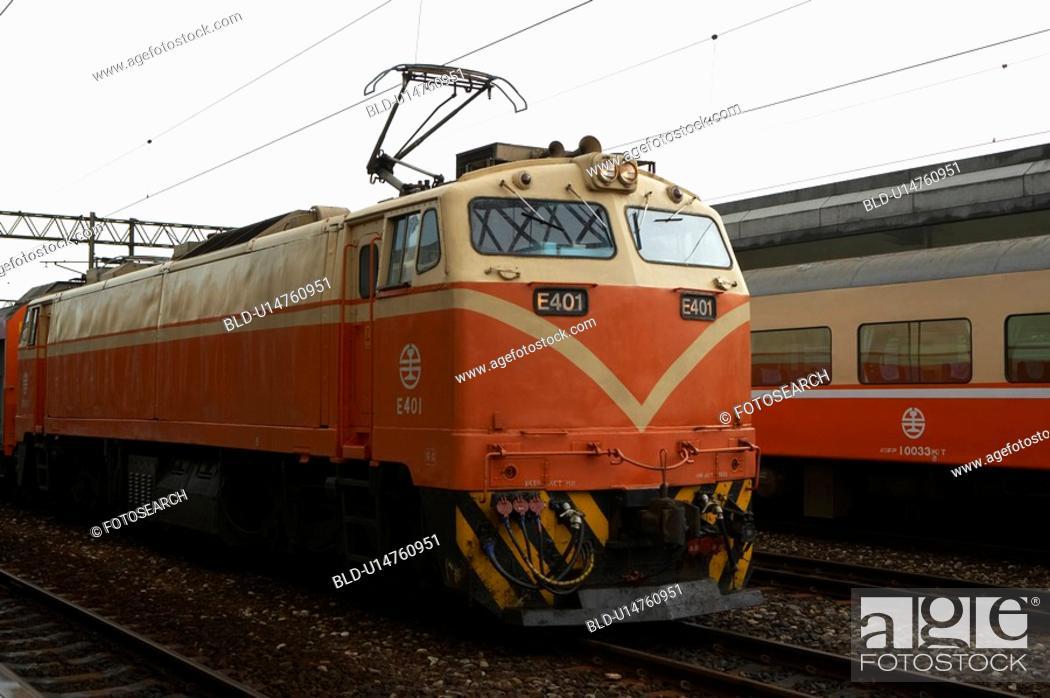 Stock Photo: Train on Railroad Track, Taiwan.