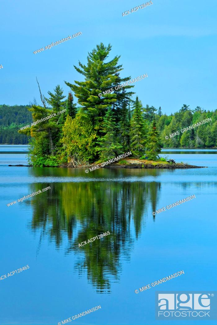 Imagen: Island i Andy Lake, Ontario, Canada.