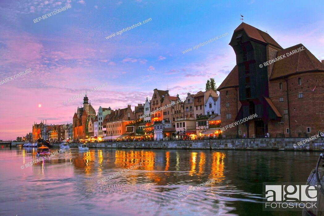 Imagen: The medieval port crane. Gdansk, Pomeranian Voivodeship, Poland.