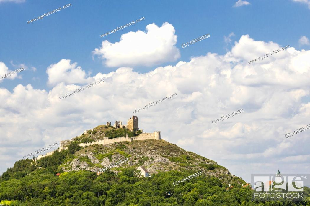 Stock Photo: Staatz ruins, Mistelbach District, Lower Austria, Austria.
