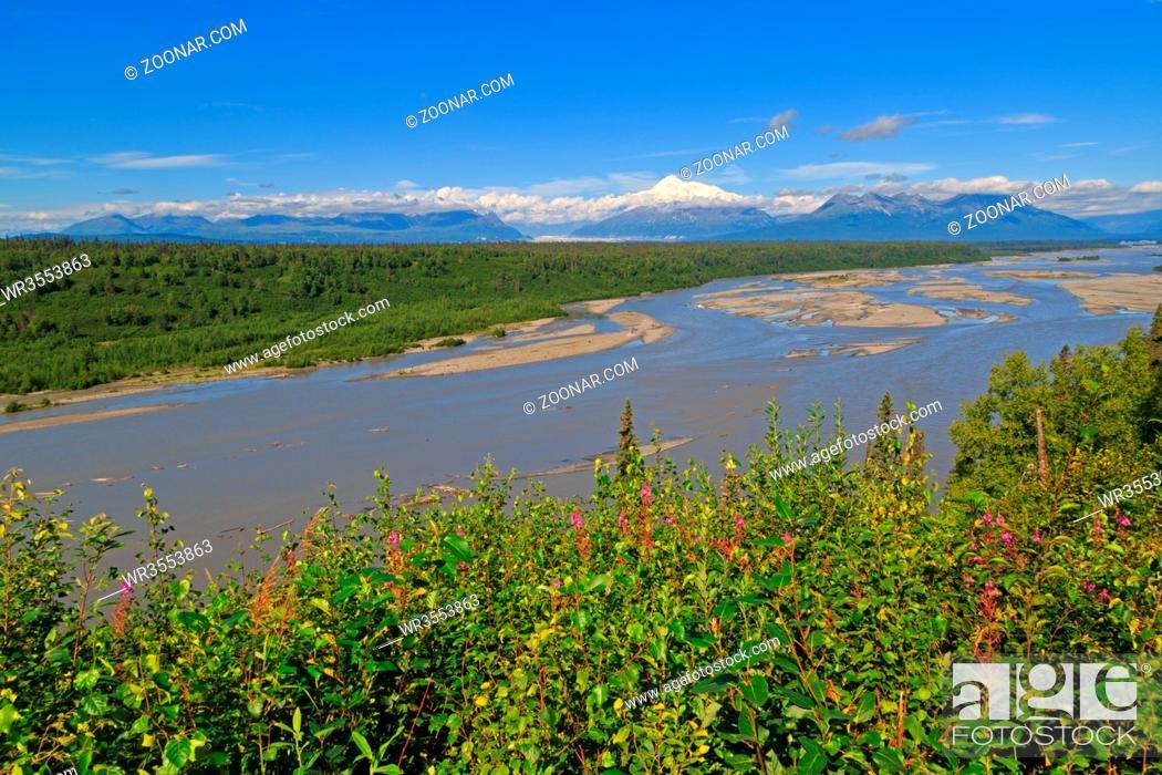 Imagen: Panorama des Denali-Massivs in Alaska.