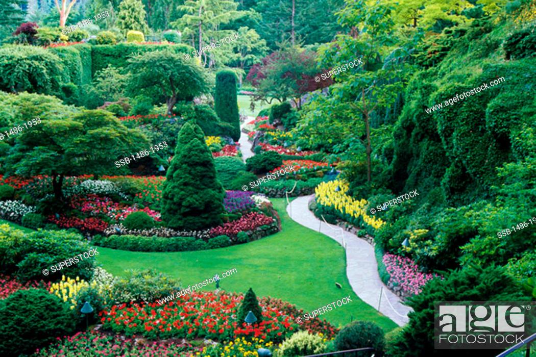 Butchart gardens victoria british columbia canada stock photo stock photo butchart gardens victoria british columbia canada thecheapjerseys Images