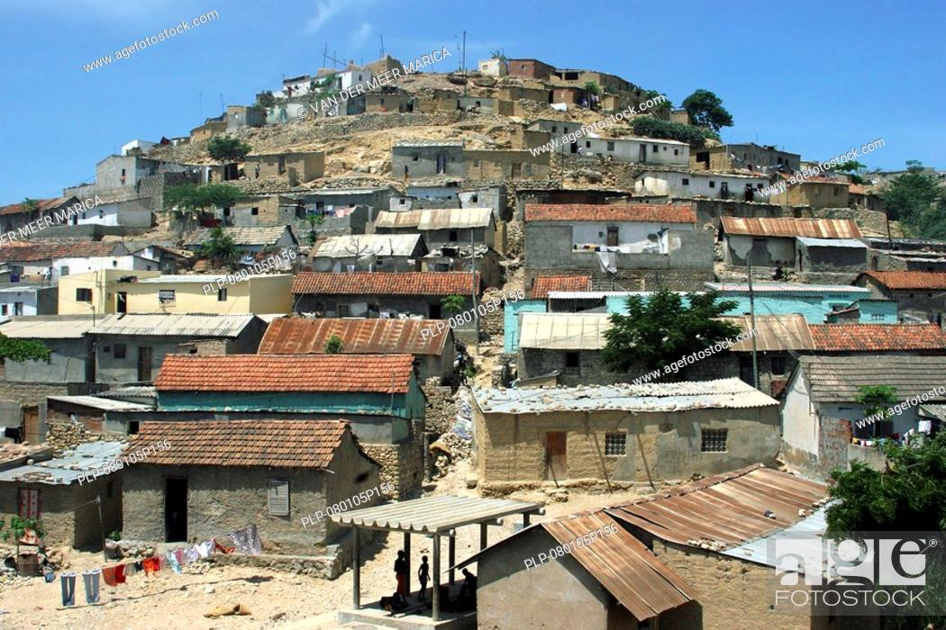 Stock Photo: Suburb of Lobito, Angola, Africa.