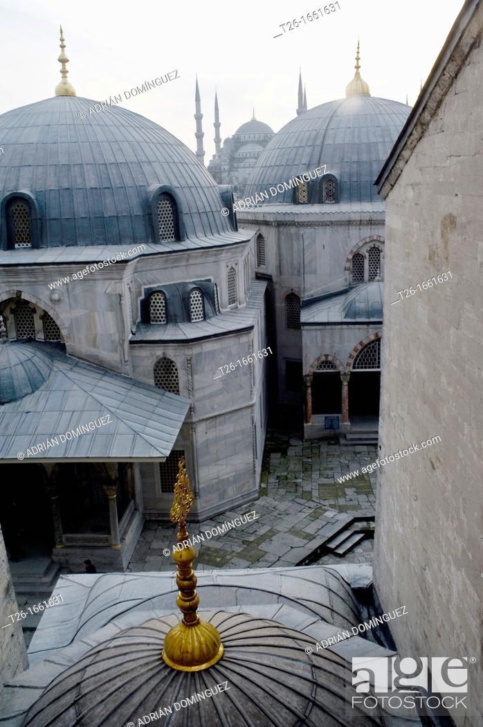 Stock Photo: Outside of Santa Sophia church. City of Istanbul, Turkey.