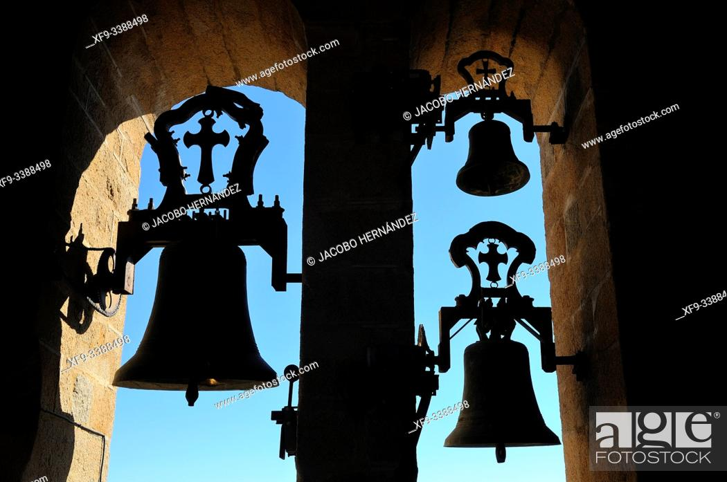 Stock Photo: Bells of the cathedral of Santa Maria. Caceres. Extremadura. Spain.