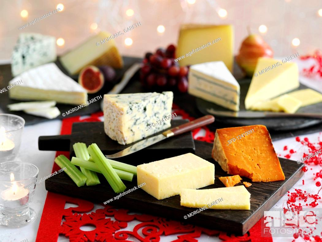 Stock Photo: Cheese Boards.