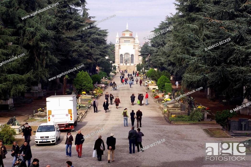 Stock Photo: monumental cemetery, milan, italy.